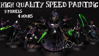 Khainite Shadowstalkers: how to paint DEEP shadows  - Warcry Daughters of Khaine / Dark Elves