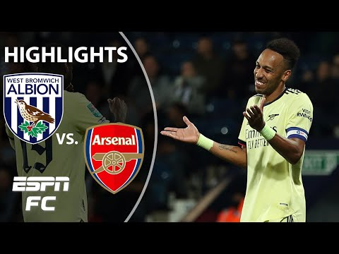 Download Aubameyang's hat trick sparks Arsenal's big win vs. West Brom | Carabao Cup Highlights | ESPN FC