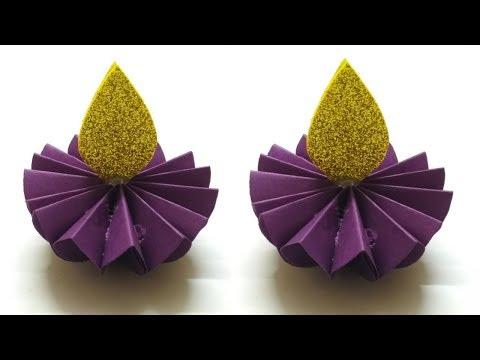 How To Make Paper Diya | Easy Diwali Decoration Ideas | DIY Paper Diya