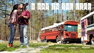 Young Family Living in Self Converted School Bus // Off Grid Bus Life