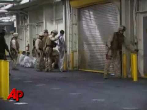 Raw Video: Pirates Caught in Gulf of Aden