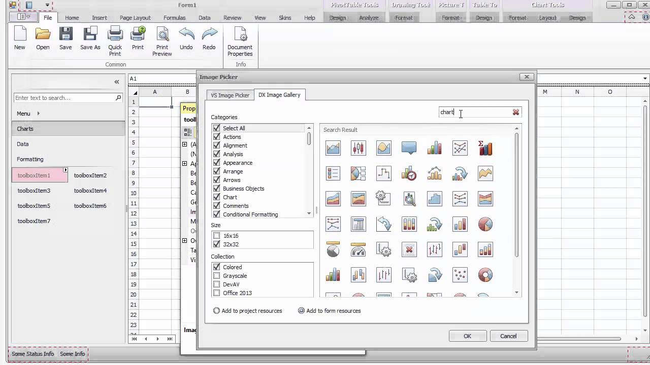 DevExpress WinForms Toolbox