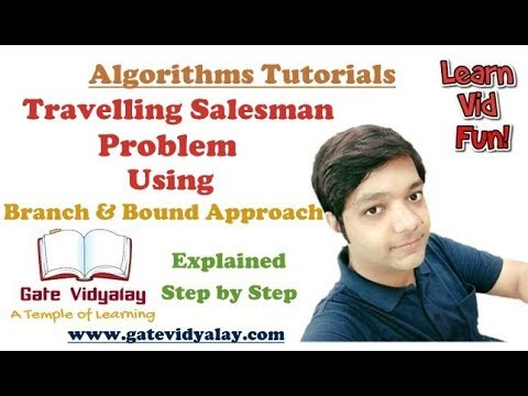 Travelling Salesman Problem Using Branch and Bound Algorithm | Explained step by step