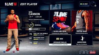 "NBA LIVE 16 Rising Star Creation | Slasher & Shooter Small Forward ""Don Cannon"" | Face Scan"