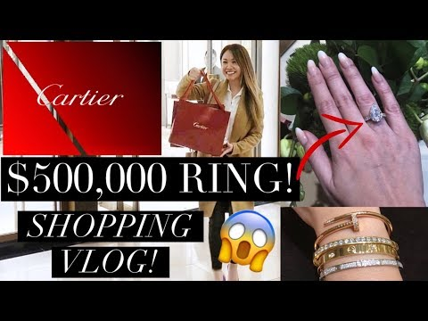 CARTIER VLOG: PICKING MY 1ST PIECE! OMG $500,000 RING - YOU