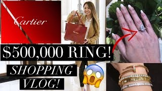CARTIER VLOG: PICKING MY 1ST PIECE! OMG $500,000 RING - YOU NEED TO SEE THIS! LOVE RING/BRACELET