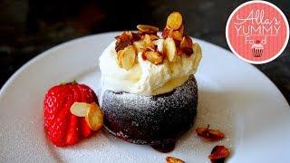 Amaretto Chocolate Lava Cake Recipe | Molten Lava Cake