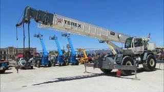 For Sale 2007 Terex RT555 55 Tons Ton Rough Terrain Crane 110