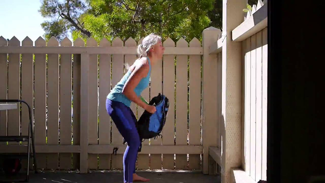 45e2233d07da Workout with DIY Heavy Backpack or Duffel Bag - YouTube