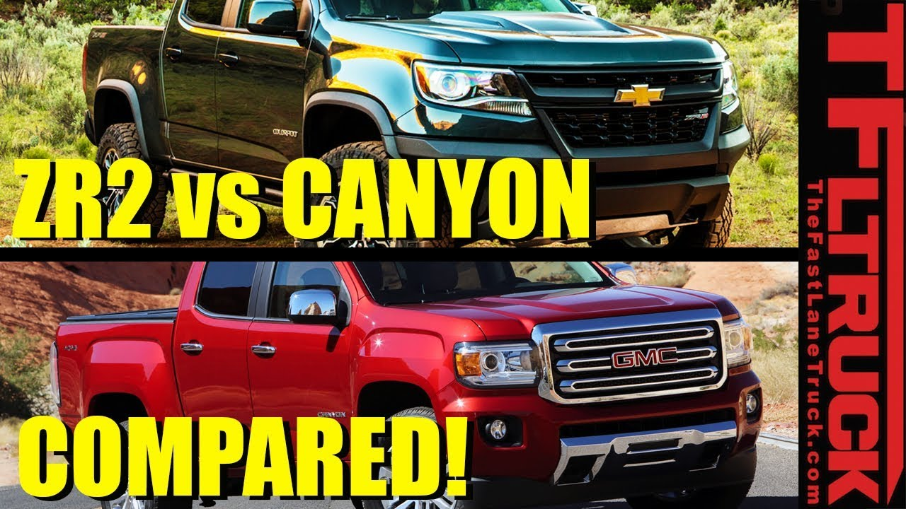 Chevy Colorado Zr2 Vs Gmc Canyon Here Is The Real World Mpg