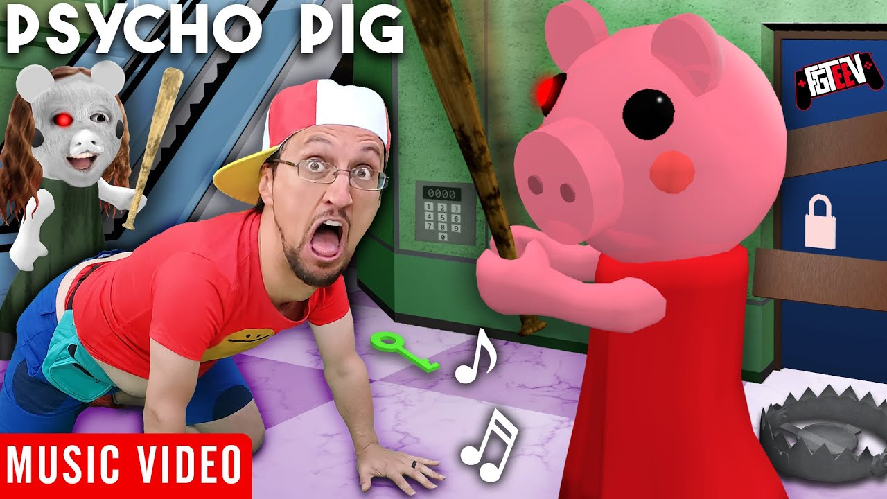 PSYCHO PIG ? FGTeeV Official Music Video (Roblox PIGGY Song)