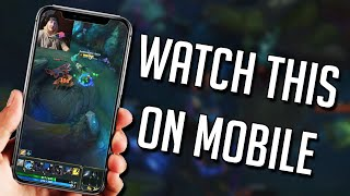 League of Legends but you literally have to watch this video on mobile