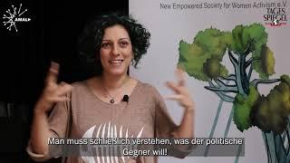 Wie motiviere ich Syrerinnen, sich für Politik zu interessieren?