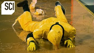 Catching a Human With a Giant Glue Trap! | MythBusters Jr. thumbnail
