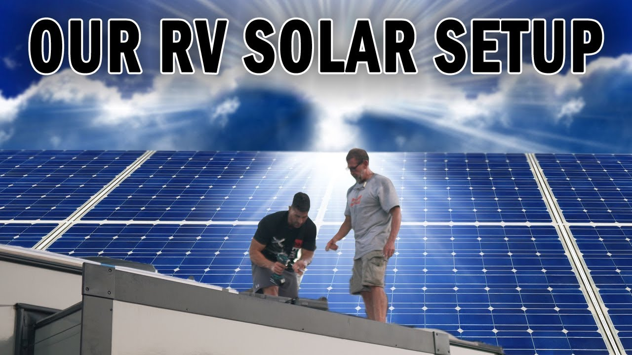 medium resolution of our rv solar setup with wiring diagram solar components listed