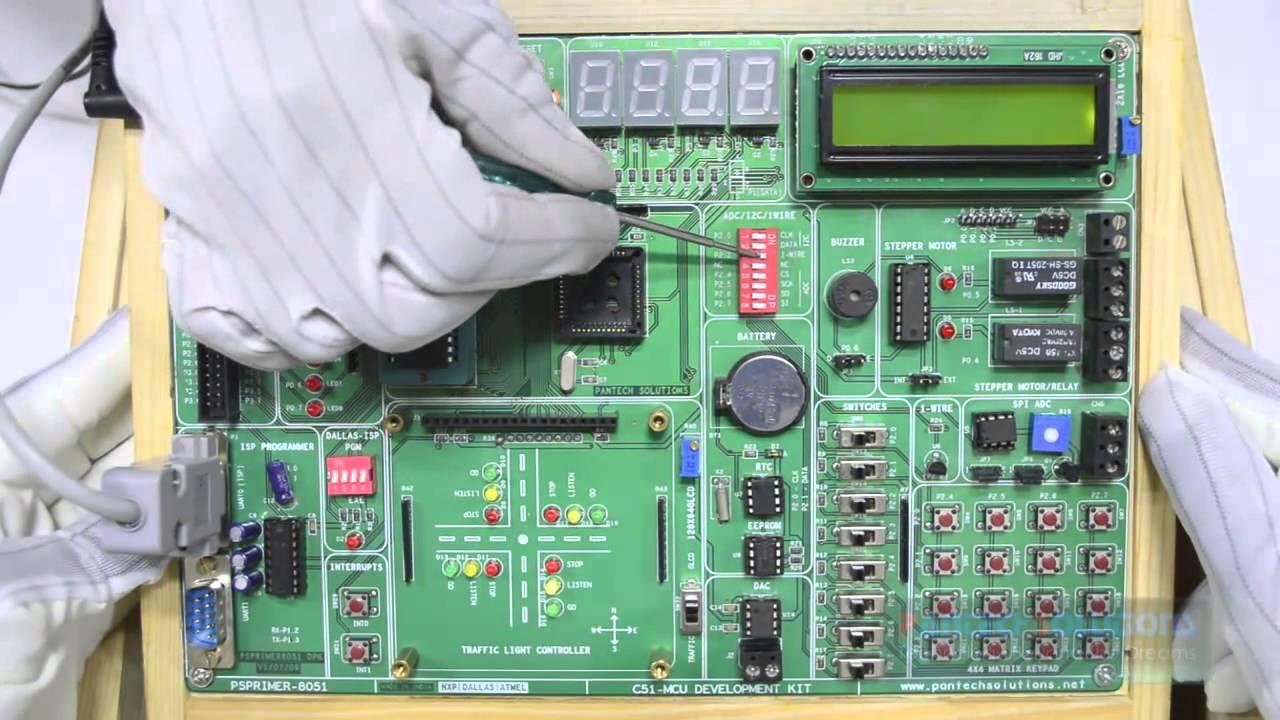 Temperature Sensor Interface With 8051 Development Board Youtube Programmer Circuit