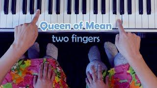 Queen of Mean - Sarah Jeffery / Descendants 3 / EASY TWO FINGERS piano tutorial