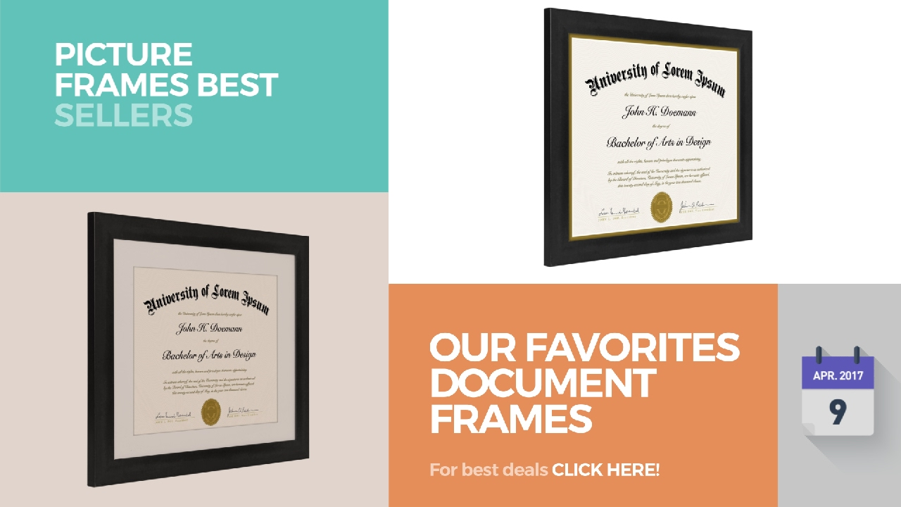 our favorites document frames collection picture frames best sellers - Document Frames