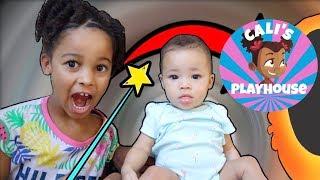 Cali's Magic with Baby Sister | Cali's Playhouse