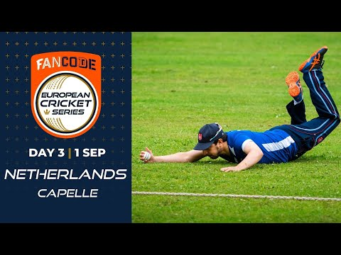 🔴 FanCode European Cricket Series Netherlands, Capelle Day 3 | T10 Live Cricket