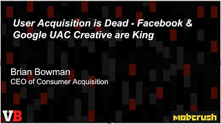 User Acquisition Is Dead | GamesBeat Summit 2019 | Boss Stage, Day 1