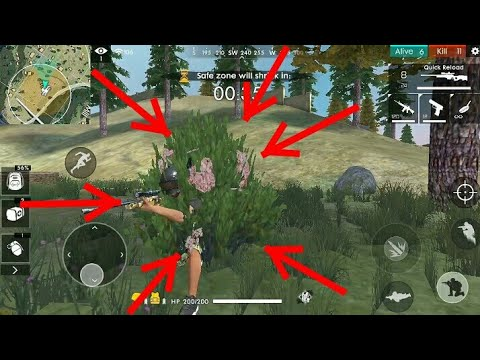 Ghillie Bush New Update In Free Fire Battleground Youtube