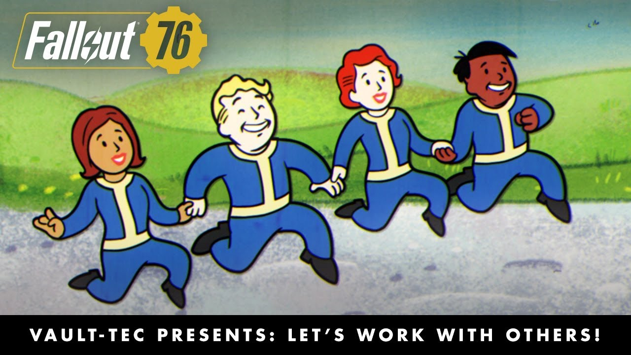 Fallout 76 Vault Tec Presents Let S Work With Others Multiplayer Video Pegi
