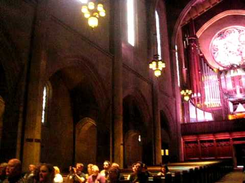 The largest church pipe organ in the world at the FIRST CONGREGATIONAL CHURCH of LA