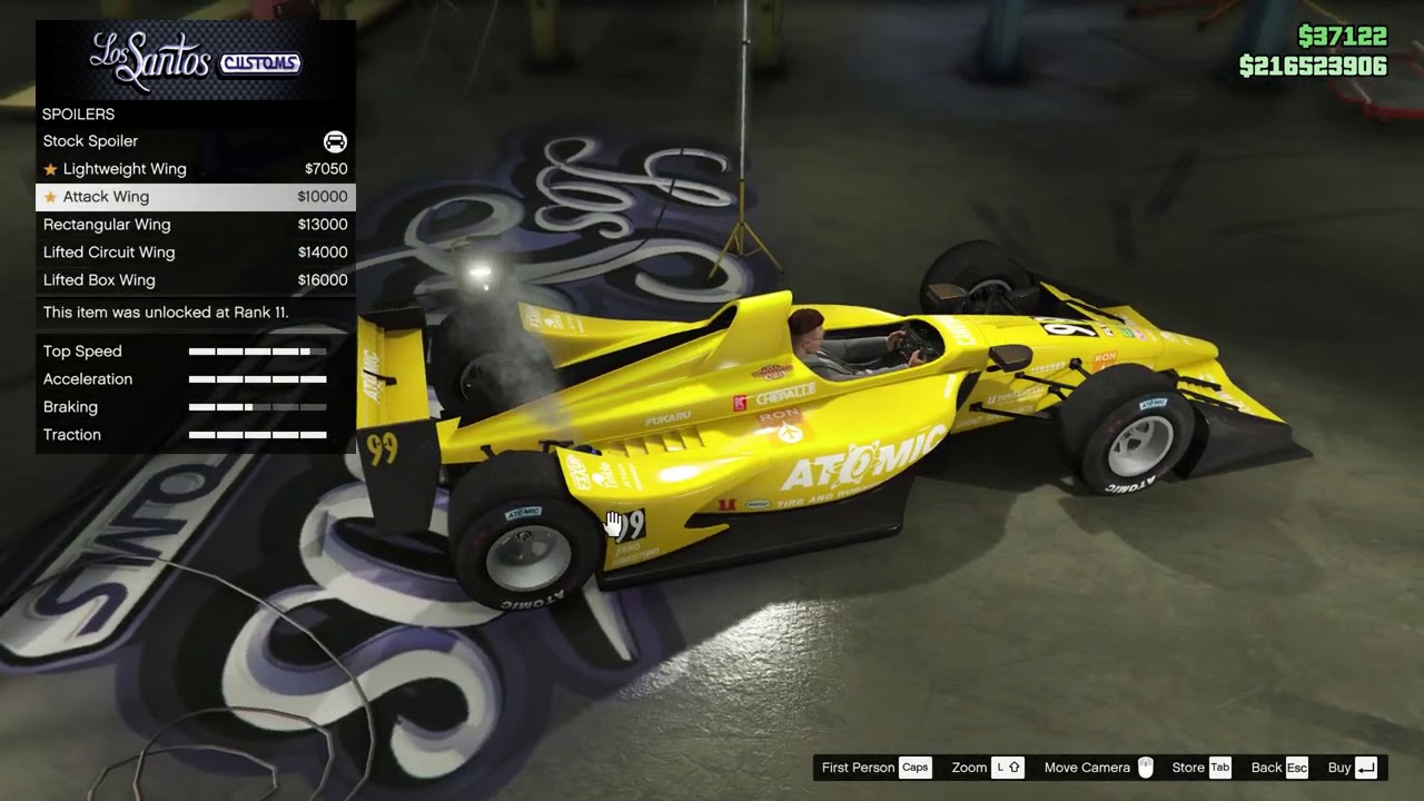 GTA 5 Declasse DR1 Customization REVIEW & TOP SPEED Test (New LS Summer Special DLC F1 Car)