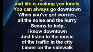Petula Clark - Downtown (karaoke KLIP)
