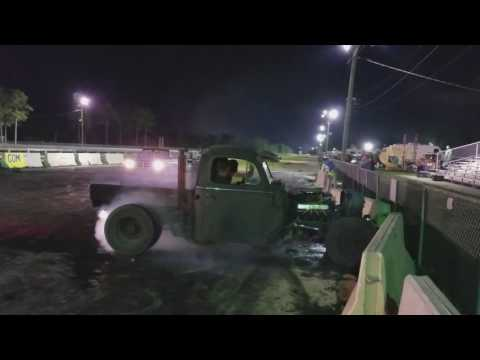 51 ford rat rod burn out!