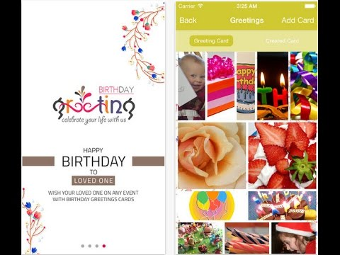 Birthday Greeting iPhone App to Send Instant Birthday Cards YouTube – Send Birthday Card by Text