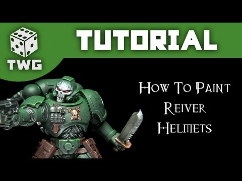 Warhammer Tutorial: How To Paint Primaris Reiver Skull Helmets