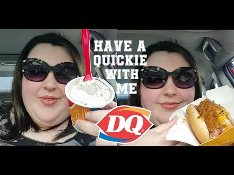 DAIRY QUEEN CHILLI CHEESE DOG AND OREO BLIZZARD MUKBANG