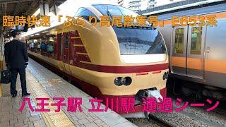 臨時快速「ぶらり高尾散策号」E653系 八王子駅 立川駅 通過シーン