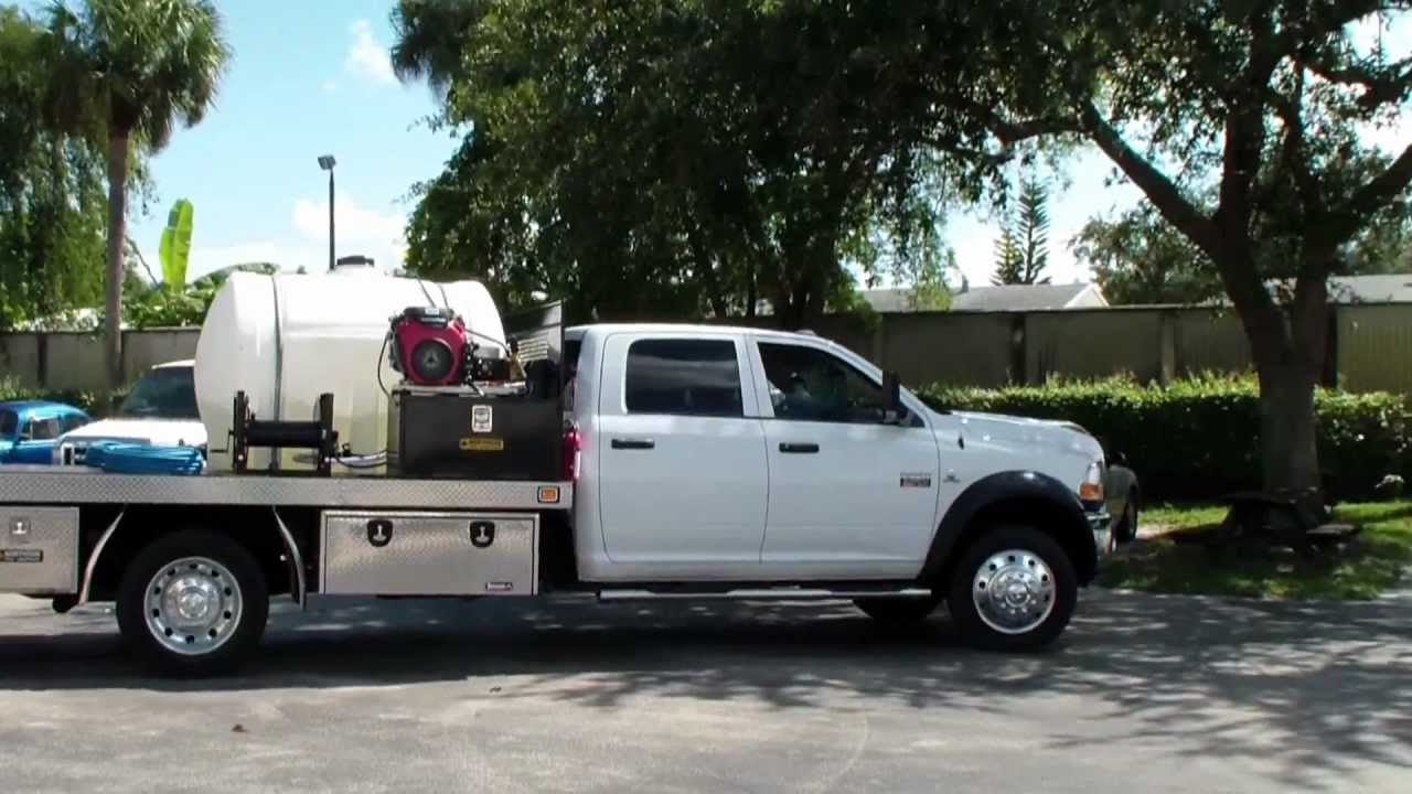 Pressure Washing Set Up Truck Bed