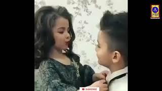 New WhatsApp status video 💘baby boy and girl love sax kiss