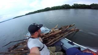 Рыбалка. Офигенный отдых на реке Ока. Ночь в лодках. Тест драйв GLAD ATOR 9.8.