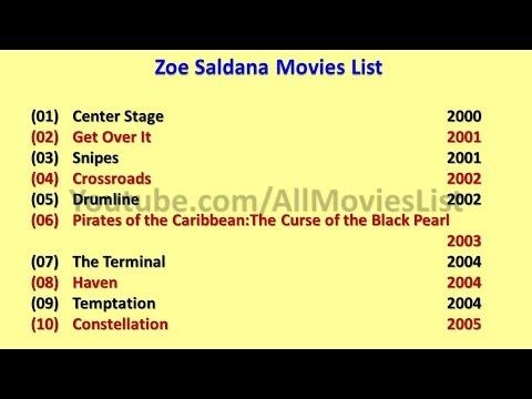 Zoe Saldana Movies List