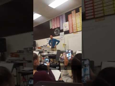 Pinnacle charter high school band teacher does the woah