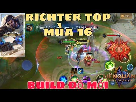 Cách lên đồ Richter mùa 16 - Bảng ngọc, cách chơi Richter đi top mạnh nhất liên quân mobile AOV