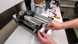 Removing parts on Epson Stylus…