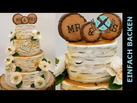 Birch Tree Wedding Cake I Birkenbaum Hochzeitstorte Youtube