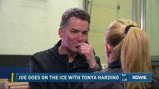 Joe goes on teh ice with Tonya Harding