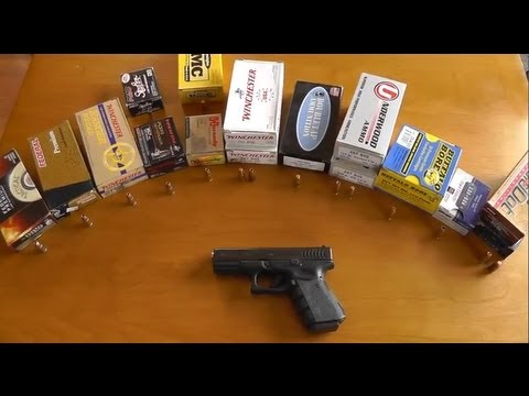 Glock 32 357 sig Ammo Test - Accuracy, Velocity, Recoil
