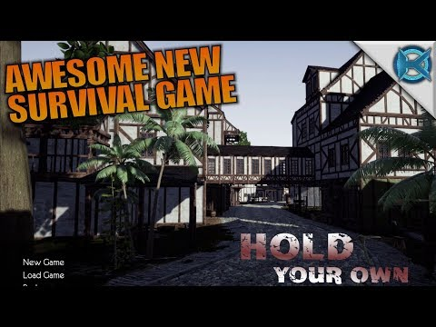 AWESOME NEW SURVIVAL GAME | Hold Your Own | Let's Play Gameplay | S01E01