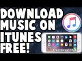 HOW TO GET FREE MUSIC ON ITUNES 2018!!!!