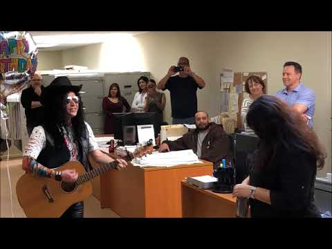 Bibi gets a Rockstar Singing Telegram in NYC