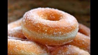 Дрожжевые пончики, видео рецепт приготовления
