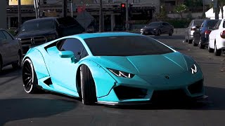Crazy Color Widebody Lamborghini Huracan, Chris Brown's Light Up Aventador.